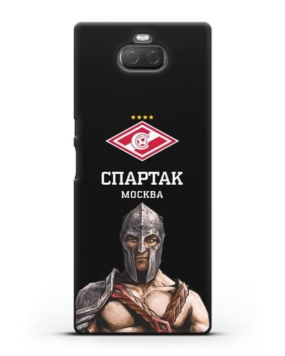Чехол ФК Спартак Москва Гладиатор силикон черный для Sony Xperia 10 Plus