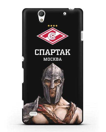 Чехол ФК Спартак Москва Гладиатор силикон черный для Sony Xperia C4