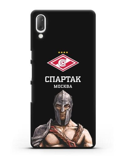 Чехол ФК Спартак Москва Гладиатор силикон черный для Sony Xperia L3
