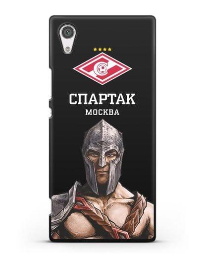 Чехол ФК Спартак Москва Гладиатор силикон черный для Sony Xperia XA1