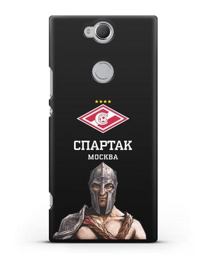 Чехол ФК Спартак Москва Гладиатор силикон черный для Sony Xperia XA2 Plus