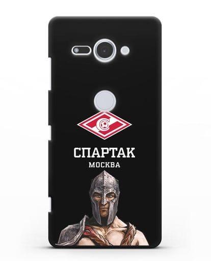 Чехол ФК Спартак Москва Гладиатор силикон черный для Sony Xperia XZ2 Compact