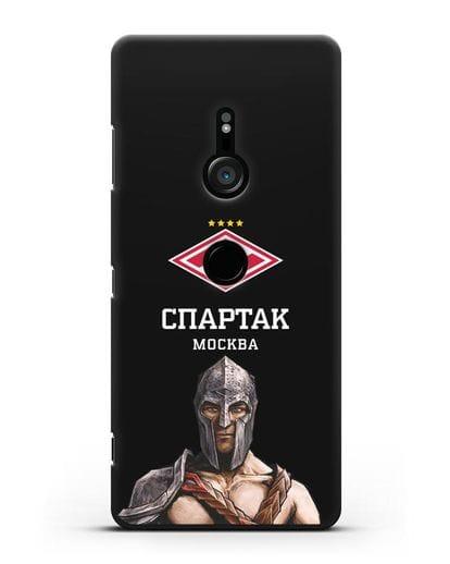 Чехол ФК Спартак Москва Гладиатор силикон черный для Sony Xperia XZ3