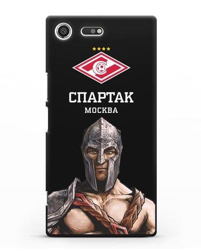 Чехол ФК Спартак Москва Гладиатор силикон черный для Sony Xperia XZ Premium