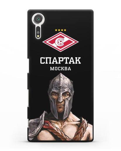 Чехол ФК Спартак Москва Гладиатор силикон черный для Sony Xperia XZs