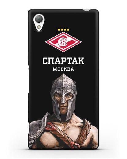 Чехол ФК Спартак Москва Гладиатор силикон черный для Sony Xperia Z2