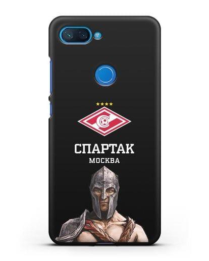 Чехол ФК Спартак Москва Гладиатор силикон черный для Xiaomi Mi 8 Lite