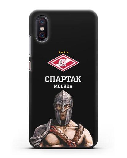 Чехол ФК Спартак Москва Гладиатор силикон черный для Xiaomi Mi 8 Pro