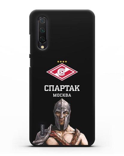 Чехол ФК Спартак Москва Гладиатор силикон черный для Xiaomi Mi 9 Lite