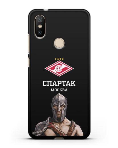 Чехол ФК Спартак Москва Гладиатор силикон черный для Xiaomi Mi A2