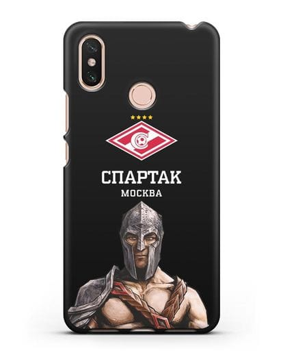 Чехол ФК Спартак Москва Гладиатор силикон черный для Xiaomi Mi Max 3