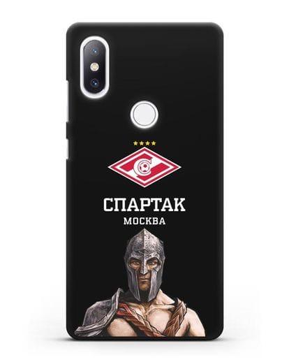 Чехол ФК Спартак Москва Гладиатор силикон черный для Xiaomi Mi Mix 2S