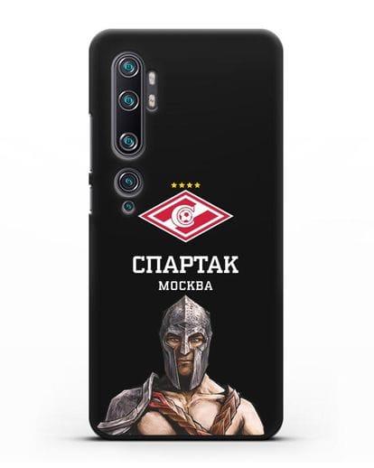 Чехол ФК Спартак Москва Гладиатор силикон черный для Xiaomi Mi Note 10 Pro