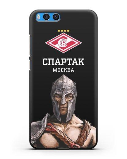 Чехол ФК Спартак Москва Гладиатор силикон черный для Xiaomi Mi Note 3
