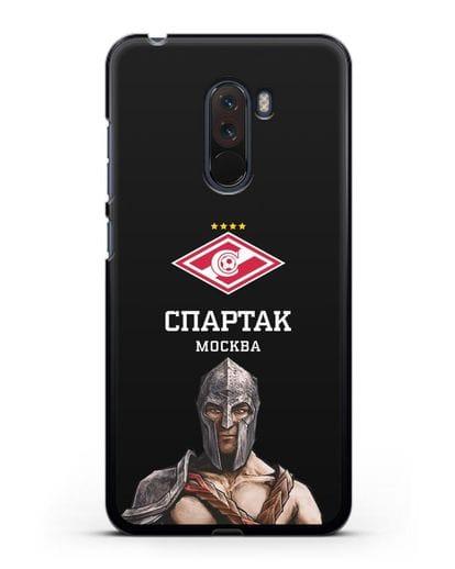 Чехол ФК Спартак Москва Гладиатор силикон черный для Xiaomi Pocophone F1