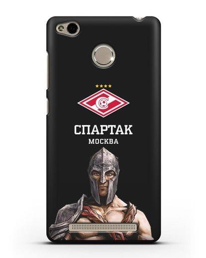 Чехол ФК Спартак Москва Гладиатор силикон черный для Xiaomi Redmi 3s