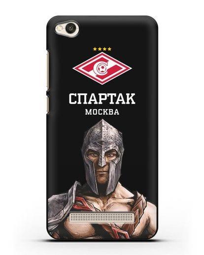Чехол ФК Спартак Москва Гладиатор силикон черный для Xiaomi Redmi 4A