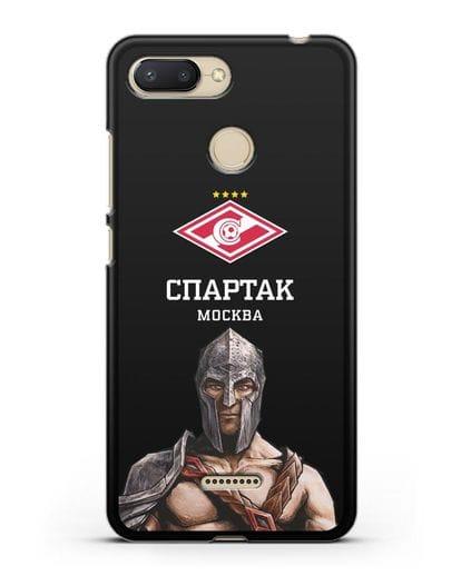 Чехол ФК Спартак Москва Гладиатор силикон черный для Xiaomi Redmi 6