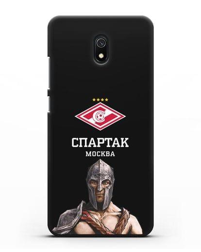 Чехол ФК Спартак Москва Гладиатор силикон черный для Xiaomi Redmi 8A