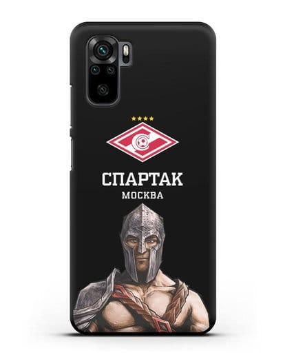 Чехол ФК Спартак Москва Гладиатор силикон черный для Xiaomi Redmi Note 10