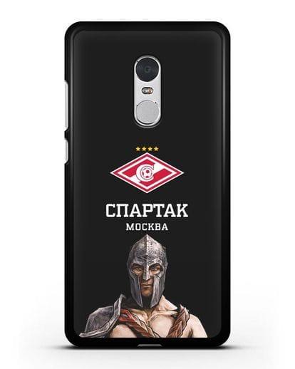 Чехол ФК Спартак Москва Гладиатор силикон черный для Xiaomi Redmi Note 4X