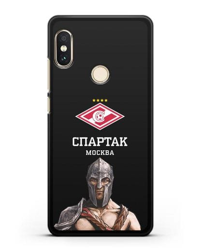 Чехол ФК Спартак Москва Гладиатор силикон черный для Xiaomi Redmi Note 5