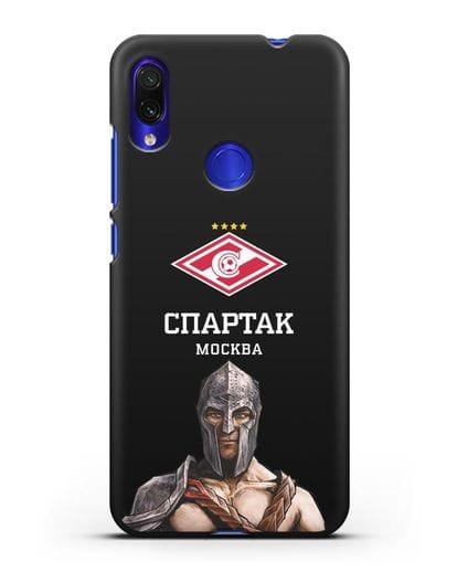Чехол ФК Спартак Москва Гладиатор силикон черный для Xiaomi Redmi Note 7