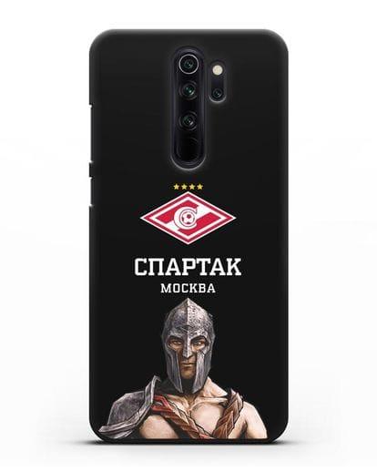 Чехол ФК Спартак Москва Гладиатор силикон черный для Xiaomi Redmi Note 8 Pro