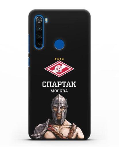 Чехол ФК Спартак Москва Гладиатор силикон черный для Xiaomi Redmi Note 8T