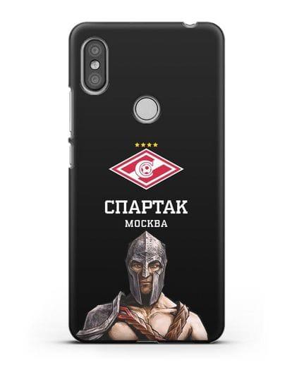 Чехол ФК Спартак Москва Гладиатор силикон черный для Xiaomi Redmi S2