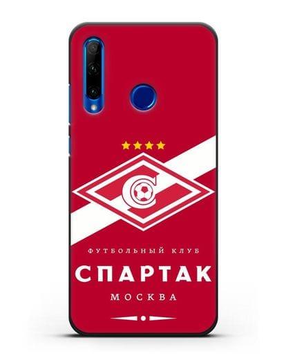 Чехол с логотипом ФК Спартак Москва с красным фоном силикон черный для Honor 10i