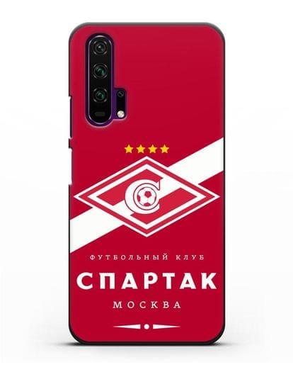 Чехол с логотипом ФК Спартак Москва с красным фоном силикон черный для Honor 20 Pro
