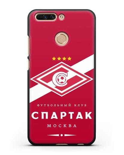 Чехол с логотипом ФК Спартак Москва с красным фоном силикон черный для Honor 8 Pro