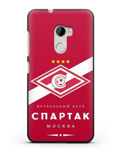 Чехол с логотипом ФК Спартак Москва с красным фоном силикон черный для HTC One X10