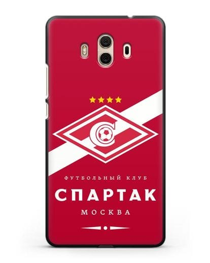 Чехол с логотипом ФК Спартак Москва с красным фоном силикон черный для Huawei Mate 10