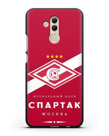 Чехол с логотипом ФК Спартак Москва с красным фоном силикон черный для Huawei Mate 20 Lite