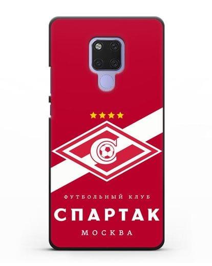 Чехол с логотипом ФК Спартак Москва с красным фоном силикон черный для Huawei Mate 20X