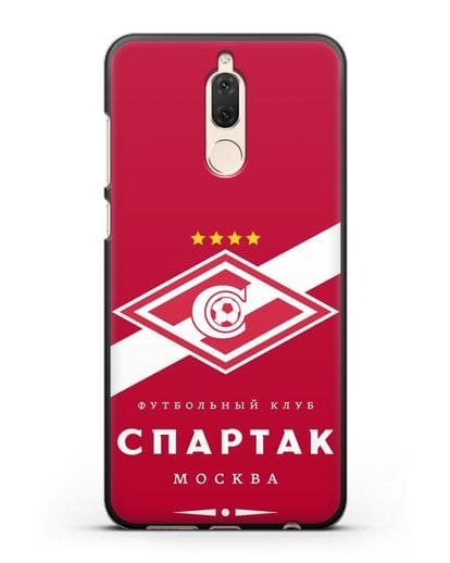 Чехол с логотипом ФК Спартак Москва с красным фоном силикон черный для Huawei Nova 2