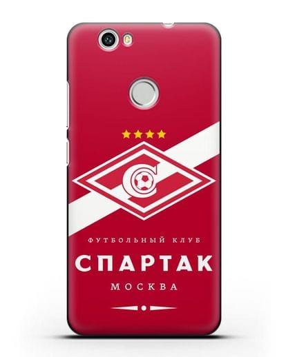 Чехол с логотипом ФК Спартак Москва с красным фоном силикон черный для Huawei Nova