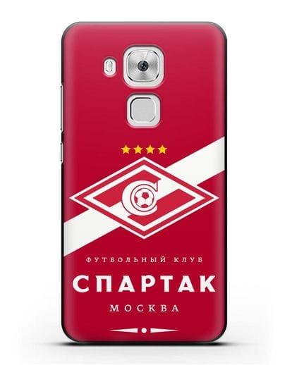 Чехол с логотипом ФК Спартак Москва с красным фоном силикон черный для Huawei Nova Plus