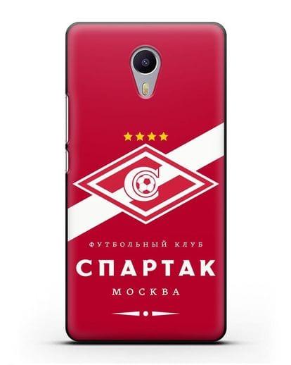 Чехол с логотипом ФК Спартак Москва с красным фоном силикон черный для MEIZU M3 Note