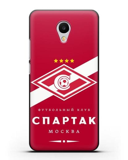 Чехол с логотипом ФК Спартак Москва с красным фоном силикон черный для MEIZU M3s mini