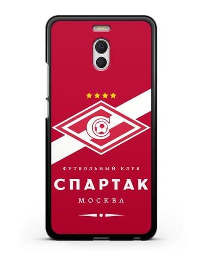 Чехол с логотипом ФК Спартак Москва с красным фоном силикон черный для MEIZU M6 Note