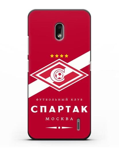 Чехол с логотипом ФК Спартак Москва с красным фоном силикон черный для Nokia 2.2 2019