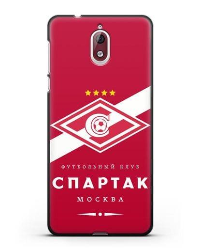 Чехол с логотипом ФК Спартак Москва с красным фоном силикон черный для Nokia 3.1
