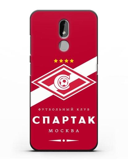 Чехол с логотипом ФК Спартак Москва с красным фоном силикон черный для Nokia 3.2 2019