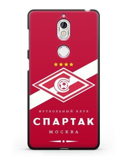 Чехол с логотипом ФК Спартак Москва с красным фоном силикон черный для Nokia 7
