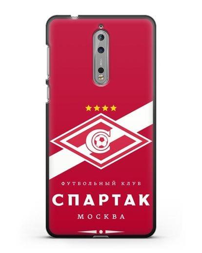 Чехол с логотипом ФК Спартак Москва с красным фоном силикон черный для Nokia 8