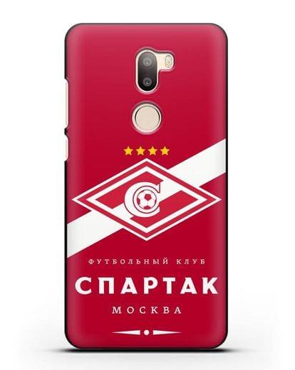 Чехол с логотипом ФК Спартак Москва с красным фоном силикон черный для Xiaomi Mi 5S Plus