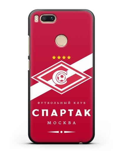 Чехол с логотипом ФК Спартак Москва с красным фоном силикон черный для Xiaomi Mi 5X